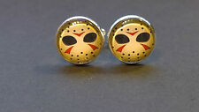 Jason Hockey Mask comic glass domed cufflinks