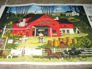 1000 Piece Jigsaw Puzzle Charles Wysocki The Broom Maker Picture Insert Included