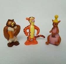 """Disney Winnie the Pooh PVC Figures 100 Acre Woods Cake Toppers 4"""" Lot Of 3"""