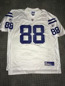 NFL Marvin Harrison Indianapolis Colts #88 White OnField Reebok Jersey XL EUC