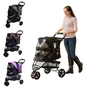 NEW Pet Gear Special Edition NO-ZIP Dog/Cat Stroller Easy Locking Latch PG8250NZ