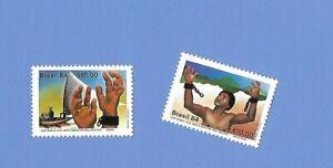"""BRASILIEN  1984 - postfrisch**MNH - MiNr. 2021-2022 """"Sklavenaufstand"""""""