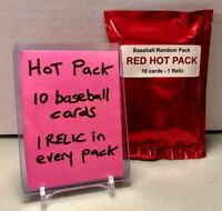🔥🔥 RED HOT PACK 10 card mystery baseball pack + 1 RELIC 🔥🔥