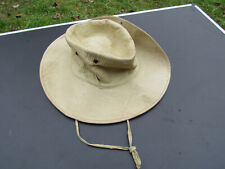 CHAPEAU DE BROUSSE FABRICATION LOCALE INDOCHINE ORIGINAL 1947/1954