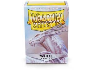 Matte White Case Display Dragon Shield Standard Size Sleeves - 10 Packs