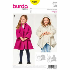 Burda Kids Easy SEWING PATTERN 9353 Girls Coat Age 2-7