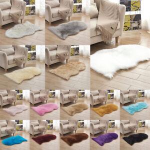 Faux Fur Sheepskin Mat Shaggy Area Rugs Chair Car Seat Pad Cushion 40x60cm