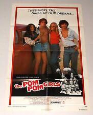 THE POM POM GIRLS 1976 MOVIE POSTER sexploitation CHEERLEADERS Robert Carradine