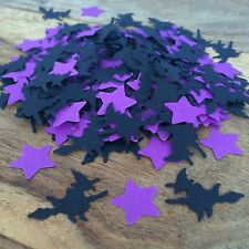 Black Witch & Purple Stars CONFETTI | Table Sprinkles | Halloween | Party