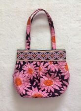 Vera Bradley Morgan Loves Me Pink Blue Floral Shoulder Bag Hobo Tote Handbag
