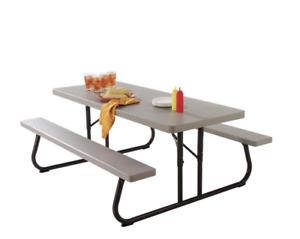 Lifetime Folding Patio Picnic Table 2119 - 6 Ft.