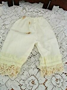 """Doll pants, off white, 9"""" long, Waist appx 7.5"""", Adorable, Used"""