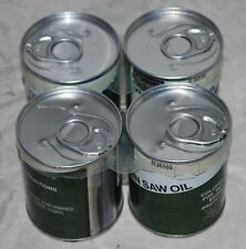 Unopened 4 pack Sears Craftsman Chain Saw Oil can, 8 oz. 32-36555 New Old Stock