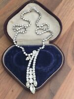 Vintage Diamante Diamond Paste Necklace