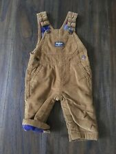Oshkosh  Baby Boys Corduroy Flannel Plaid Lined Overalls...
