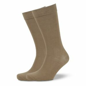 New Men's Plain Modal Business Socks - Taupe  by Mitch Dowd