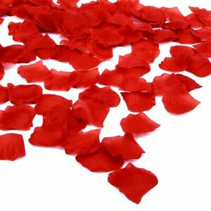 1000 Pieces Silk Rose Petals Wedding Party Flower Favors (Red)