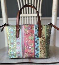 FOSSIL Multicolor Floral Leather Small Convertible Crossbody Shoulder Handbag