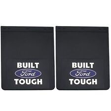 "PAIR BUILT FORD TOUGH MUD SPLASH GUARDS FLAPS DUALLY 18"" X 24"" NEW FREE SHIPPING"