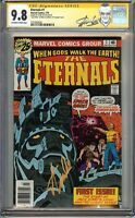 ETERNALS #1 CGC 9.8 SIGNED by both STAN LEE & JACK KIRBY Truly Amazing. Thanos!