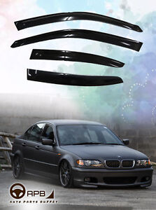 For BMW E46 3 Series 97-06 Deflector Window Visors Guard Vent Weather Shield