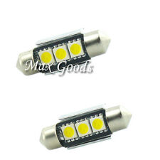 2X 36mm CANBUS  3 LED 5050 SMD 6418 C5W License Plate Dome Light Bulbs White