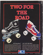VINTAGE MAGAZINE AD #00383 - ROLLER SKATES - ACS - SKATEMATE - OFF THE WALL