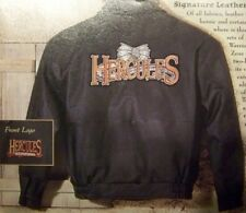 XENA - THE OFFICAL HERCULES BLACK LEATHER JACKET WITH LOGO - NEW - SIZE MEDIUM