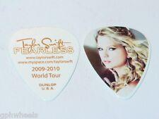 TAYLOR SWIFT ORIGINAL 2009 - 2010 FEARLESS TOUR GUITAR PICK -NICE!
