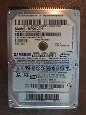 """Samsung MP0402H REV.A F/W:UC200-16 40gb 2.5"""" IDE Hard Drive"""