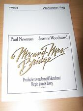 MR. AND MRS. BRIDGE - Werberatschlag ´90 - PAUL NEWMAN Joanne Woodward