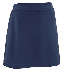 Girls Junior Skort 2in1 Built-In Shorts With Skirt Plain School PE Games Sports