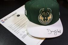 DJ Wilson Rookie Draft Photo Shoot NBA Hat Autograph Milwaukee Bucks