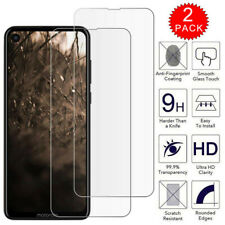 For Motorola One Vision - Premium Clear Tempered Glass Screen Protector [2-Pack]