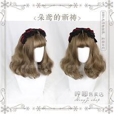 Wig Vintage Harajuku Cospaly Lolita Princess Hair Brown Gradient Long Curly