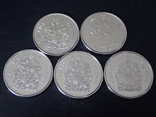 5 X Canada 50 cents coins 2014 to 2017 (2017both types normal and 150th)