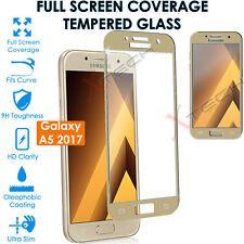Gold Tempered Glass Full Coverage Screen Protector for Samsung Galaxy A5 2017