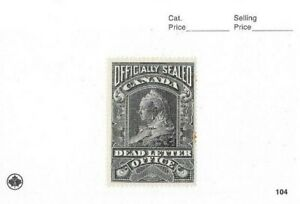 Canada 1907 QV design Officially Sealed Label Black on White Mint Unitrade OX3