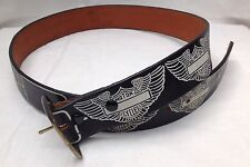 Motor Cycles American Leather Belt Vintage