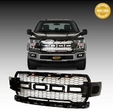 For 2018-2019 Ford F150 ABS Gloss Black Front Hood Grill Grille Raptor Style
