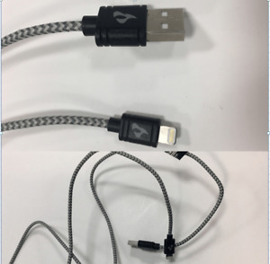 (2pk) - 2ft to 3ft Braided MFI Cable For Cell Phones - Charge and Transfer Data
