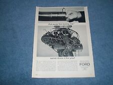 """1964 Ford 289 271-hp K-Code Engine Ad """"Put Away the Boring Bar..."""""""