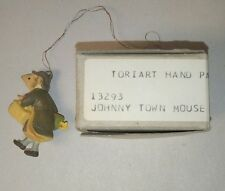"""Vintage Anri Toriart Hand Painted X-Mas Ornament """"Johnny Town Mouse""""~Mint in Box"""