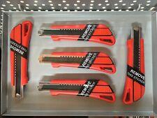 5 x Würth 1k Cuttermesser 18mm mit 15 Klingen 071566210 Kartonmesser messer cutt
