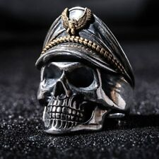 Antique Silver Ring of Honour Undead Army Legion Officer,Punk Skull Ring,Jewelry