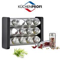 Kuchenprofi : Spice Rack: portaspezie in legno con 12 conteniitori