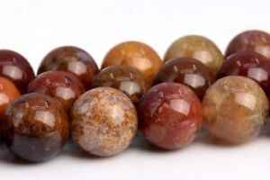 """8MM Natural Ocean Fossil Agate Grade AAA Round Gemstone Loose Beads 15.5"""""""