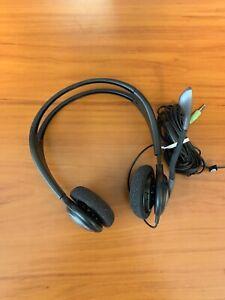 Sennheiser Headset Headphones Earphones w/ Integrated Mic Pink and Green Jack