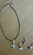 Lot of 4 Charms and Necklace Boston Terrier Dog ANIMAL RESCUE DONATION
