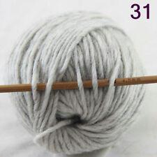 Hot 1Ballx50g Multi Color Soft Thick DIY Knitting Knitwear Woolen Sock Yarn 31